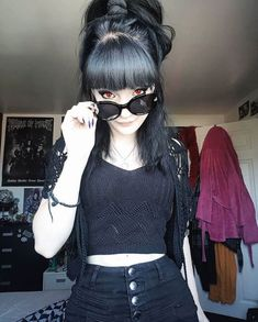 In the fountains pink champagne, someone carving their devotion 🍹 . Cute Goth Girl, Hot Goth Girls, Emo Girls, Goth Beauty, Dark Beauty, Dark Fashion, Gothic Fashion, Casual Goth, Goth Model