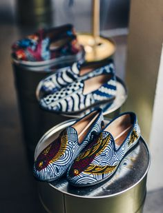 African inspired fashion l Loafers Maison Galet x Vlisco