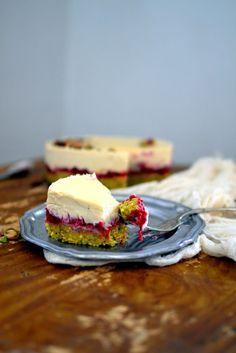 Raw Pistachio Rose Cake - emmylou's kitchen