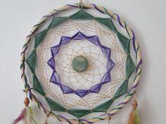 Bello Dream Catchers, Sisal, Dream Catcher Tutorial, Gods Eye, Diy And Crafts, Crochet Patterns, Weaving, Throw Pillows, Crafty