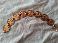 Vintage Copper Penny Bracelet Fashion Jewelry Anniversary Gift Coin