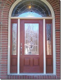 Craftsman front door with sidelights craftsman style door with glass sidelights to compliment - Paint for doors exterior pict ...