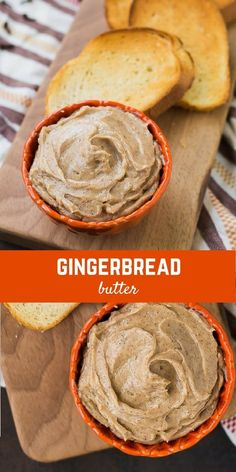 This gingerbread butter recipe will transform any pancake, waffle, or slice of toast into a festive holiday treat! And it's SO easy to make! This butter recipe is perfect for Christmas morning. Holiday Treats, Holiday Recipes, Fall Recipes, Holiday Appetizers, Holiday Desserts, Christmas Recipes, Flavored Butter, Homemade Butter, Sweet Sauce