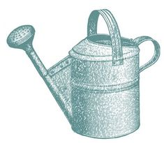 ~ 1890's watering can image from the Graphics Fairy <3