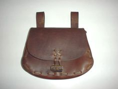Leather Renaissance Medieval SCA LARP Celtic Belt Pouch Bag Brown Hand Made | eBay