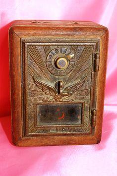 Antique U.S. Mail Box with Glass Door