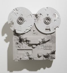 'Rose Quartz Eroded Reel to Reel' Daniel ARSHAM