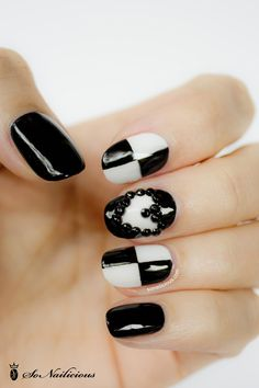 Fotos de uñas color negro – Black Nails – 45 Ejemplos | Pintar Uñas #black #nails