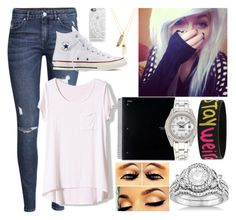 """""""Ootd//Raelyn"""" by dare2benerdy ❤ liked on Polyvore featuring art"""