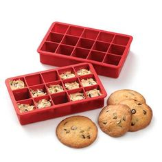 I really want one of these!  Silicone Freezer Cookie Dough trays from King Arthur