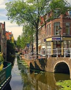 One of my favorites place in NL. Delft, The Netherlands - just a tram ride… Places Around The World, Oh The Places You'll Go, Great Places, Places To Travel, Beautiful Places, Places To Visit, Around The Worlds, Delft, Holland Netherlands