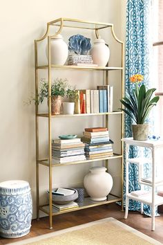 Chinoiserie-inspired pagoda etagere