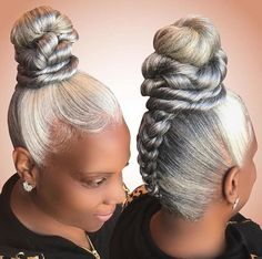 Bored of blonde hair and golden highlights? If Yes,then you should try the cool Silver hair which gives you an edgy and bold look which changes your makeover and overall style. Trendy Hairstyles, Braided Hairstyles, Straight Hairstyles, Wedding Hairstyles, Curly Hair Styles, Natural Hair Styles, Silver Hair, Braid Styles, Hair Dos