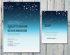 night sky invitation - Google Search