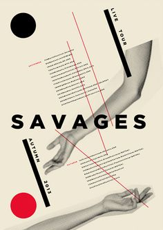 Savages. Poster design: Slep (2013).