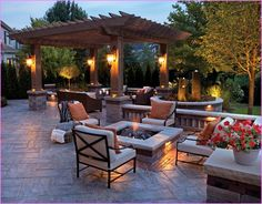 Stylish Patio Ideas With Firepit Backyard Fire Pit Home Design