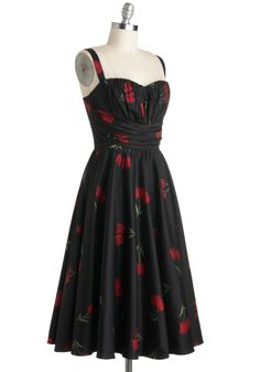 Perfect Perennial Dress. Want an alternative to holiday attire thats sure to land on your nice list year 'round? #black #modcloth