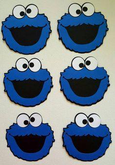 Cookie Monster Die Cut juego de 6 por DebrasCutsandCrafts en Etsy