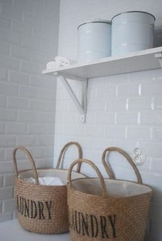 I want these laundry baskets!  The website is Swedish.....not sure how much they cost.  lol