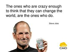virtual CMO - daily quotes. World's great innovator Steve Jobs says - www.virtualcmo.in