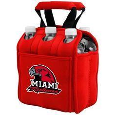 Miami University RedHawks Red 6-Pack Neoprene Cooler