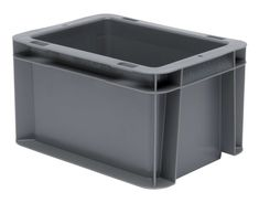2 x boîte de transport couvercle transport Caisse Stockage Storage Box KLAPPBOX Gris 60 L