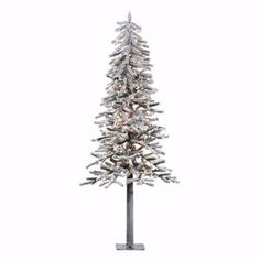 Vickerman 200Piece Flocked Alpine Tree with DuraLit Light and 657 Tips 6Feet by 33Inch Clear *** Read more at the image link. (This is an affiliate link)