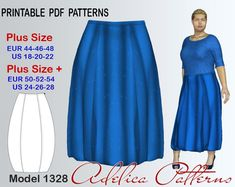 Plus size Long Balloon Skirt Sewing Pattern PDF | Craftsy