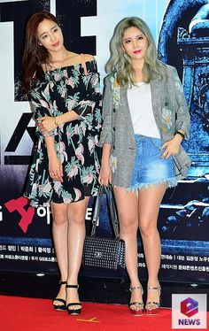 T-ara's EunJung and Qri at the VIP Day of Peste Musical ~ T-ara World ~ 티아라