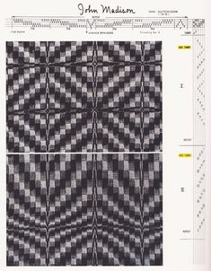 """An overshot draft scanned from """"A Handweaver's Pattern Book"""" by Marguerite P. Davison."""