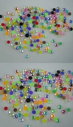 b7e9f2118d06 Rhinestones 111834  Ss16 Faceted Jelly Ab Resin Crystal 4Mm Round Flatback  Nail Art Rhinestones Glue
