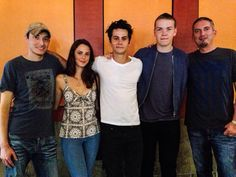 The Maze Runner: Wes Ball (director) Kaya Scodelario (Teresa) Dylan O'Brien (Thomas) Will Poulter (Gally) and James Dashner at the San Diego ComicCon