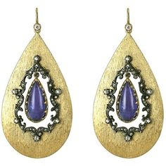 ARMAN tanzanite teardrop earrings