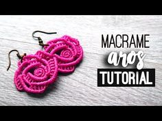 ⬇️ Description box ⬇️ Today we learn step by step how to make: Aros … - Macrame 2019 Tutorial Rosa, Rose Tutorial, Rose Earrings, Diy Earrings, Crochet Earrings, Macrame Earrings Tutorial, Earring Tutorial, Micro Macrame Tutorial, Micro Macramé