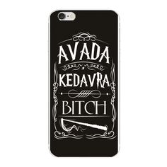 Avada Kedavra Bitch Harry Potter cases For Samsung Galaxy s7 s6 edge s5 s4 s3 Plastic cover for iphone 5 5S SE 4S 6 6S 7 Plus