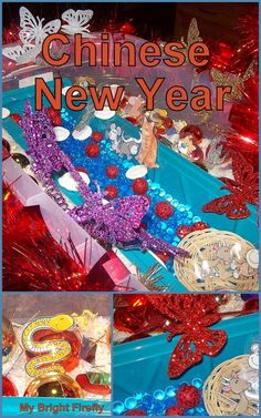 My Bright Firefly: Chinese New Year Sensory Bin