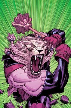 Battle Beast, from Invincible...001 comic art ryan ottley Comic Art by Ryan Ottley #lion #monster