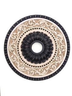 Ceiling medallion hand painted RENAISSANCE in by accentbydesign Ceiling Rose, Ceiling Tiles, Ceiling Decor, Ceiling Lights, Ceiling Fan, Pop Design, Wall Design, Living Room Tiles Design, Gypsum Decoration