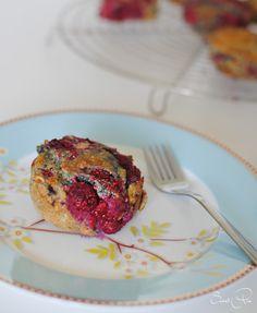 Himbeer-Kokos-Muffins zucker-, gluten- und laktosefrei