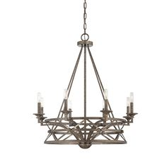 SAVOY HOUSE Lamps | Rail 8 Light Chandelier | Industrial Style | USA product available in EUROPE | #LightYourIdeas #SavoyHouse #Industrial #style #trends #deco #lighting #product #iluminacion