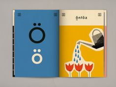 Letter ö Hungarian alphabet book - available for any design enthusiast on Blurb!