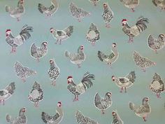 """Search results for: '""""Studio G by Clarke and Clarke Rooster Duck Egg""""' Printed Curtains, Blue Curtains, Fabric Online Uk, Farmhouse Fabric, Curtain Fabric, Soft Furnishings, Rooster, Upholstery, Cotton Fabric"""