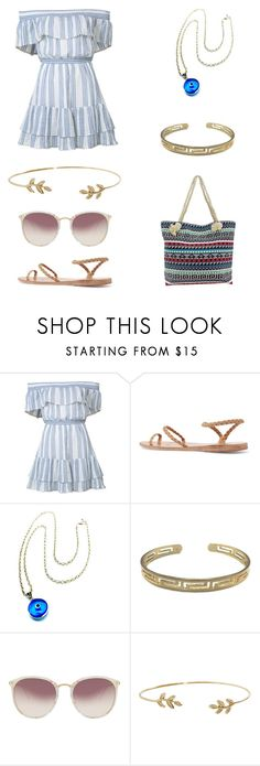 """Athenian Brunch"" by jkaythebae ❤ liked on Polyvore featuring LoveShackFancy, Ancient Greek Sandals, Zara Taylor, Linda Farrow and Humble Chic"