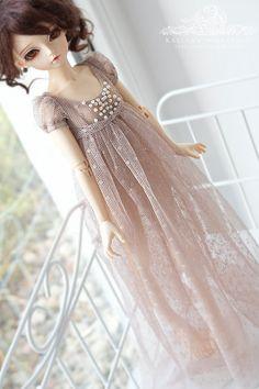 Chocolate Milk  regency style dress for slim Mini Super by kalcia