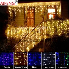 AIFENG Connectable String Lights 96LED 3M * 0.8M Curtain Icicle String Led Lights 220V EU Xmas Weddi-  Item Type: Beads  Model Number: K145W/K146WW/K147CO/K148BL/K149PU  Shape: DIY  Voltage: 220V  Brand Name: AIFENG  Waterproof: YES  Plug Type: EU Plug  Power Source: AC  Icicle string lights features: has a extend interface,you can link the string light together. -   Related: AIFENG #Connectable #String #Lights #96LED #3M #* #0.8M #Curtain #Icicle #String #Led #Lights #220V #EU #Xmas…