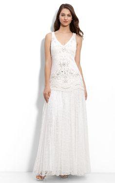Allure Column Lace Ankle-length Straps Sleeveless Evening Dresses - Formal Dresses