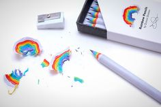 Color lovers rejoice! These recycled pencils produce rainbows when sharpened.