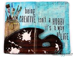 Vicky Papaioannou for Limor Webber Designs with a journal page and you tube tutorial; Nov 2014