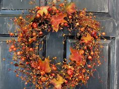 Thanksgiving Wreath  Fall Rustic Door Decor  by Designawreath, $48.95