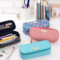 Ardium Colorful pattern block pencil case pouch by Ardium.